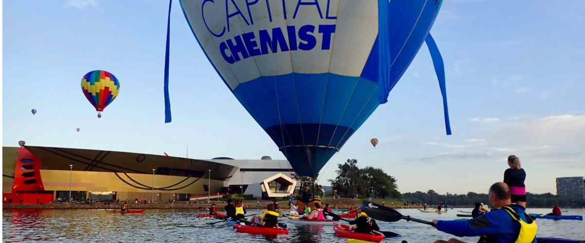 Hot air Balloons over Canberra