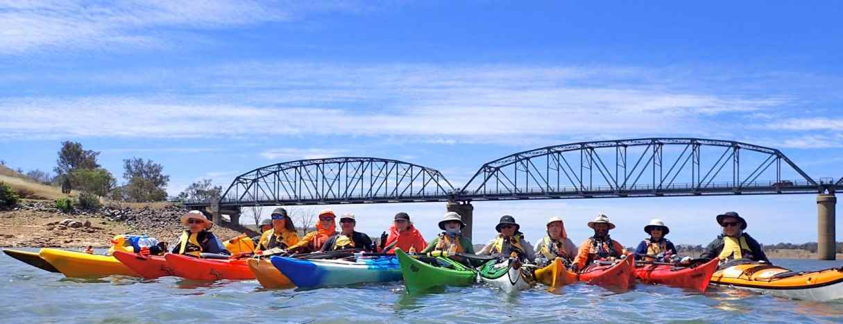 Paddlers at the end of the Murray Descent.  Photo by Roddy Kerr
