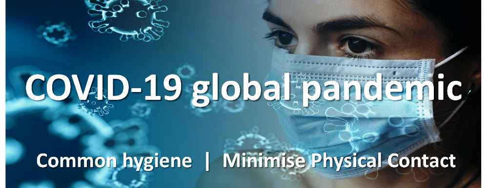COVID-19 global pandemic header